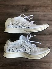 821e460a7d0 Nike Flyknit Racer White Sail Running Shoes Men s Size 5 Women s 6.5 526628- 100
