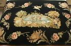 Stunning Antique Victorian Applique and Embroidered Wall Hanging