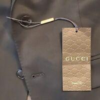 Gucci Dark Chocolate Brown Sports Coat Italian Wool Single Breasted NWT $2,625