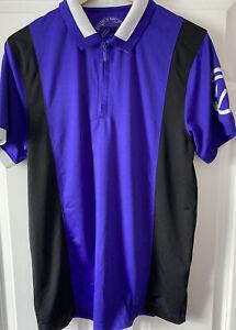 IJP Design Mens Purple Golf Polo Shirt U.K. Size Large
