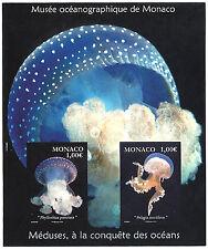 MONACO, F 2964 RARE bloc NON DENTELE imperf MEDUSES MUSEE OCEANOGRAPHIQUE, TB **