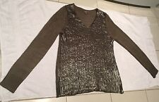 Brand New Katies Long Sleeve Sequin Top Size M