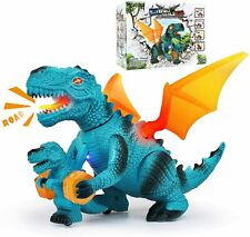 Jaolex Walking Dinosaur Toys with LED Lights and Sounds Dragon Figures for Boys