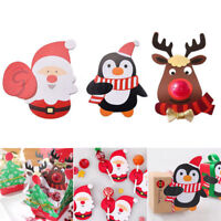 25/50pcs Christmas Lollipop Sticks Paper Candy Chocolate Cak Xmas Decor Gift