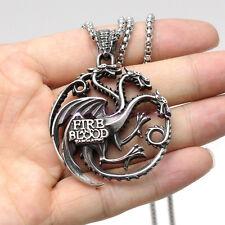 Game of Thrones Daenerys Targaryen Dragon Stainless Steel Men Necklace Pendant