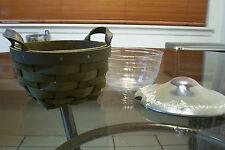 2008 Longaberger Olive American Work Host Appreciation Basket Set Mint