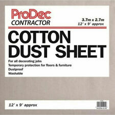 Cotton Dust Sheet Large Heavy Duty Decorating Paint Protection Twill PRODEC