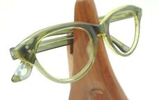 Vintage Rare Horn Rimmed Cat Eye Double Star Clear Green Oval Sunglasses Frames