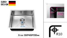 550mm Kitchen Sink Stainless Steel Undermount Topmount R10 EDGE Handmade Laundry