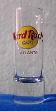 Hard Rock Cafe Tall Shot Glass Atlanta Georgia red letters