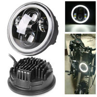 """5.75"""" Inch Halo LED Projection Headlight For Harley Motorcycle With DRL"""