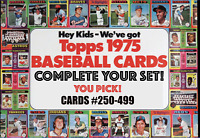 1975 Topps Baseball Cards # 251 - 499 | EX-NM! | Complete Your Set | You Pick!