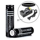 2PC 3.7V 6000mAh 18650 Li-ion Rechargeable Battery for Flashlight Torch ShipFast