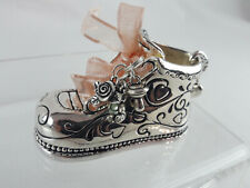 Chelsea Baby By Ganz Silver Plated Engravable Baby Shoe - Girl