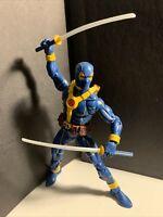 "Marvel Legends BLUE SUIT DEADPOOL 6"" Figure Loose No BAF Strong Guy Piece"