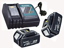 MAKITA 18V LITHIUM ION CORDLESS BATTERY FAST CHARGER DC18RA DC18RC 240V 2 bl1850