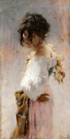 LMOP1361 large 100% handmade-painted smiling girl oil painting art on canvas