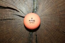 VINTAGE SALMON AND WHITE PING EYE 2 GOLF BALL MUST SEE!!!! RARE !!!! MINT!!!!