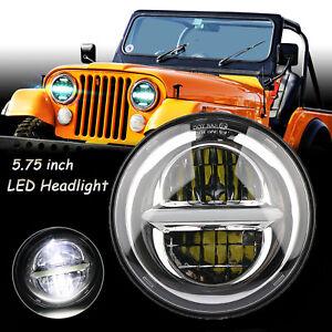 DOT 5.75'' 50W LED Headlight Hi/Lo Beam DRL For Harley Davidson Jeep Wrangler JK