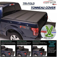 "Fits 2015-2019 Ford F150 Lock Hard Solid Tri-Fold Tonneau Cover 8ft (96"") Bed"