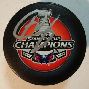 Autographed BRETT CONNOLLY Signed Washington Capitals 2018 Stanley Cup Puck
