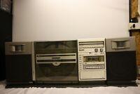 SHARP VZ-3000 HiFi VERTICAL LINEAR TURNTABLE RECORD PLAYER BOOMBOX TAPE RADIO LP
