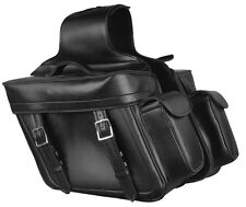 Throw Over Waterproof Saddle Bag for Harley, Honda Series w/ Side Bonus Pockets