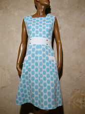 CHIC VINTAGE ROBE 1960 VTG DRESS 60s SIXTIES KLEID 60er ABITO ANNI 60 RETRO (38)