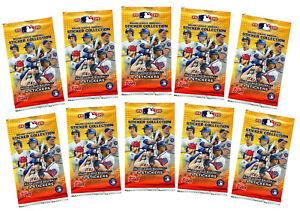2020 Topps MLB Baseball Stickers Lot Of 10 Packs