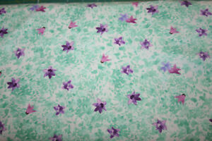 MARCELLA, SMALL PURPLE FLOWERS ON GREEN AND WHITE FROM QUILTWORKS
