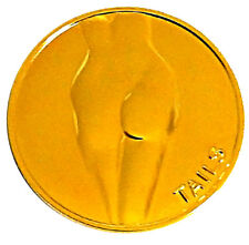Sexy Lady Luck Blazing Gold-Mirror Heads Tails Good Luck Token Challenge Coin