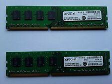 Crucial 2 X 8GB CT102464BD160B  DDR3 1600 UDIMM 240-pin RAM