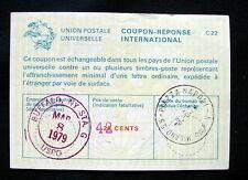 1979 USA Buffalo used Italy RARE IRC UPU INTERNATIONAL REPLY COUPON revalued 42