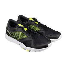 Reebok Yourflex Train 7.0 LMT Mens Black Green Athletic Training Shoes 10