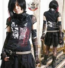 Visual Kei/Jrock/Punk/Gothic/Goth Top+Glove+Wrap SM $54