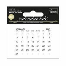 2021 Calendar Tabs - 10 sets of 12 months - 75x50mm