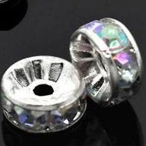 50 à Facettes Rondelle Beads Irrisierend Coloré Perle 8 MM Zwischenperle