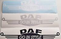"DAF TRUCK ""GO IN STYLE""  X2  DECAL STICKER MATTE FINISH LOGO XF CF LF"