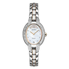 *Brand New* Seiko Women's Diamond Accent Two Tone Mother of Pearl Watch Sup327