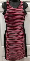 SHABANA BODYCON DRESS BLACK AND PINK SIZE 10 - 12 BRAND NEW WITH TAGS