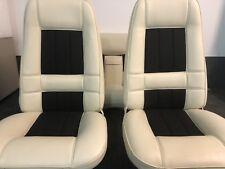 Ford Xa Gt Sedan Seat Trim Covers Full Set In Off White+black Cloth aussie Made