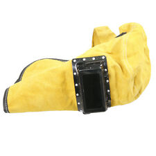 Leather Welder Welding Work Hood Helmet Mask Overhead Inner&Outter Lens Glasses