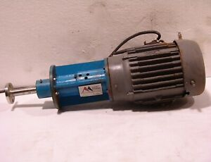 Cowles dissolver mixer agitator 7-½ hp , 870 rpm stainless shaft