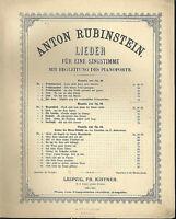 """Anton Rubinstein : """" Der Asra """"   ~ übergroße Noten, ALT"""