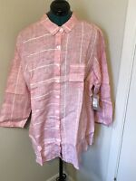 Habitat Red Strawberry Linen Shirt.Size M.NWT.