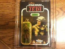 AFA 80 Y-NM 1983 KENNER STAR WARS ROTJ 77 BACK-A LEIA ( COMBAT PONCHO )