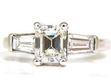 GIA 1.56CT BRILLIANT EMERALD CUT DIAMOND RING J/VVS2 SOLITAIRE+