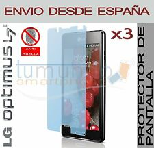 3x PROTECTOR de PANTALLA MATE ANTIHUELLAS ANTIGLARE para LG OPTIMUS L7 II 2 P710