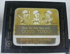 3 1929 Glass Slides Avonmore, PA Hardware Good Tools Wheeler Sheridan LA, CA