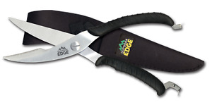Outdoor Edge Game Shears, SC-100, Stainless, Spring Loaded, Heavy Duty, Sheath